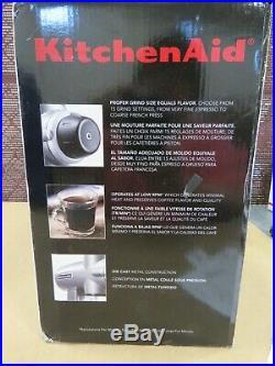 017- KitchenAid Burr Grinder KCG0702CU Brand NewithDamaged Pkg Contour Silver
