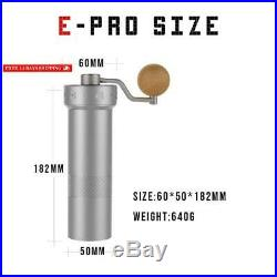 1Zpresso Manual Coffee Grinder E-Pro Series With Adjustable Stainless Steel Burr