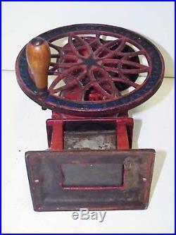 Antique 1875 Cast Iron Swift Mill Lane Brothers Coffee Grinder Single Wheel Burr