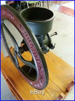 Antique 2 Cast Iron Corn Coffee burr Mill corn Grinder Korn King Root Heath