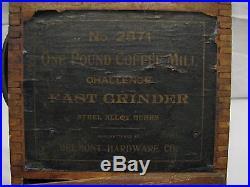 Antique Wooden Lap Mill Fast Coffee Grinder Belmont Hardware Challenge Burr