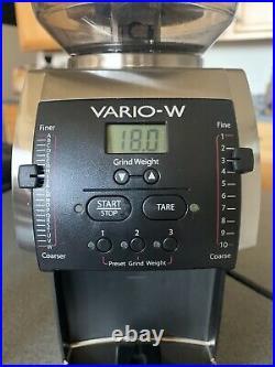 Baratza Vario W Ceramic Flat Burr Coffee Espresso Grinder Scale Grind by Weight