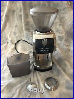 Baratza Vario espresso coffee grinder, flat ceramic burr, with SS dosing funnel