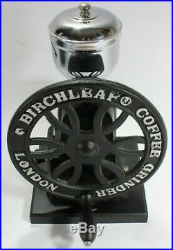 Birchleaf Cast Iron Burr Coffee Grinder Birchleaf London Black Chrome Fast Post