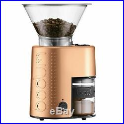 Bodum 10903-73US-1 Bistro Electric Burr Coffee Grinder, Copper