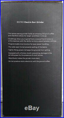 Bodum BISTRO Burr Grinder, Electronic Coffee Grinder Unopened NOT Refurbished