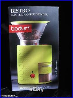 Bodum Bistro Electric Burr Coffee Grinder10903-565usgreennib