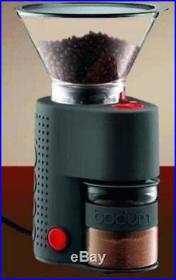 Bodum Bistro Electric Burr Coffee and Espresso Grinder Black