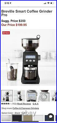 Breville BCG820BTR Smart Professional Electric Coffee Grinder Black Truffle
