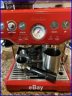 Breville BES870CBXL Barista Express Cranberry Red Espresso Machine