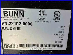 Bunn Coffee Grinder G2 HD bean black 22102