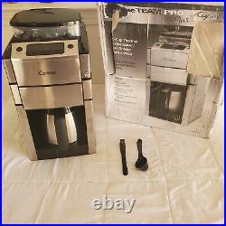 CAPRESSO 488.05 TEAM PRO Plus 10-Cup Thermal Carafe COFFEE MAKER & GRINDER