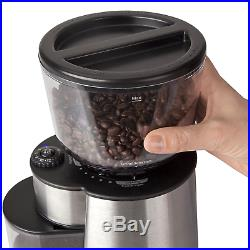 Coffee Grinder Automatic Burr Mill Grinder Mr Electric Silver / Black