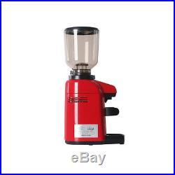 Commercial Espresso Coffee Grinder Burr Mill Machine Red 500g Burr Grinder