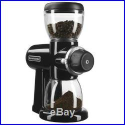 Electric Bean Grinder Burr Coffee Grinder KitchenAid Mill Grinders Glass Hopper