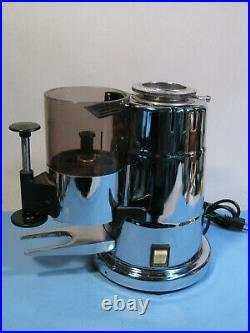 Elektra MXC Chrome Commercial Grade Italian Espresso Coffee Bean Burr Grinder