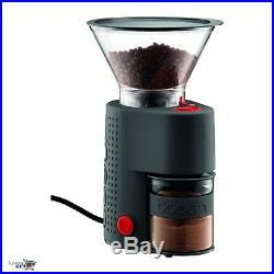 Eletric Coffe Mill Bodum Bistro Burr Conical Bean Grinder Machine 8 oz Black