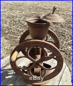 Elgin Coffee Grinder Burr Mill Cast Iron Corn Bean Wheat Seed Grain Vintage