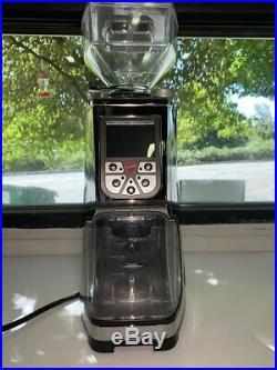 Eureka Atom Flat Burr Coffee Bean Espresso Grinder Chrome Aluminum (Used)