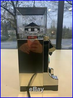 Eureka Mignon Instantaneo 50mm Flat Burr Polished Chrome Espresso Grinder USED