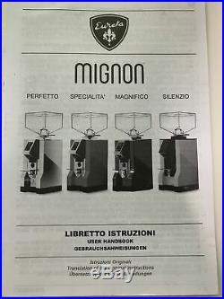 Eureka Mignon Specialita 55mm Flat Burr Ferrari Red Espresso Grinder USED