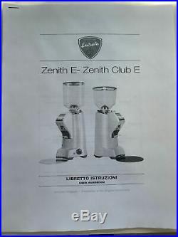 Eureka Zenith 65E Flat Burr Stepless Grind Adjust Coffee Grinder USED