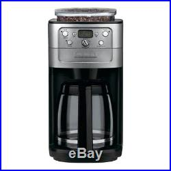 Fully Programmable Coffee Maker With Burr Grinder 12-Cup No-Drip Glass Brewer