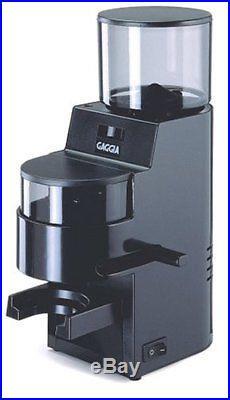 Gaggia 8002 MDF Burr Grinder with Doser Black Espresso Machines Coffee Tea Small