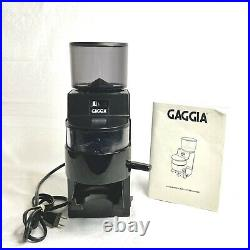Gaggia MDF Burr Coffee Grinder 10oz Black 8002 Made In Italy FULLY TESTED