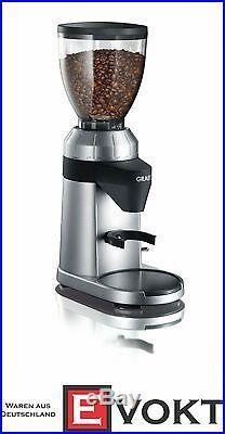 Graef CM800 Coffee Mill Burr Grinder 128W 350g Aluminium Silver Genuine NEW
