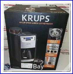 Grind Brew Auto Start Coffee Maker With Builtin Burr Coffee Grinder 10 Cup Black