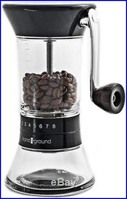 Handground Precision Coffee Grinder Manual Ceramic Burr Mill Matt Black