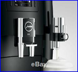JURA E8 2020 Piano Black Automatic Espresso/Coffee Center Machine withBurr Grinder