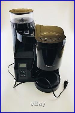 Jura CAPRESSO 10 Cup Coffee Maker & Burr Grinder Combo BLACK RARE Model 453