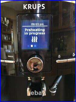 KRUPS EA8250 Fully Auto Coffee Maker Espresso Machine, Burr Grinder, 60 Oz MULTI