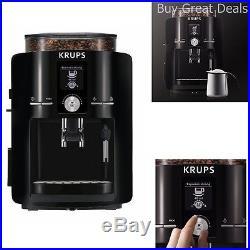 KRUPS Espresseria COFFEE MAKER, Automatic ESPRESSO MACHINE + Burr GRINDER, Black
