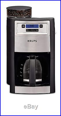KRUPS Grind and Brew Auto-start Coffee Maker with Builtin Burr Coffee Grinder, 1