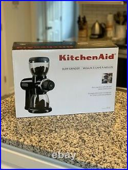 KitchenAid Burr Coffee Grinder Onyx Black NEW In Box