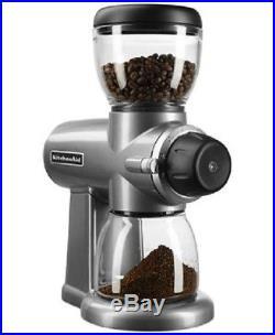 KitchenAid KCG0702CU Burr Coffee Grinder, Contour Silver