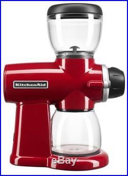 KitchenAid KCG0702ER Burr Coffee Grinder, Empire Red, NEW