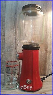 KitchenAid burr Coffee Grinder Retro Glass RED Globe KCG200ER Mill