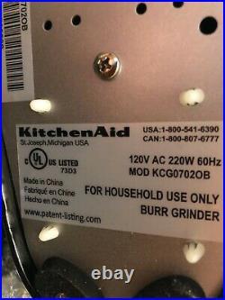 Kitchen Aid Pro Line Burr Coffee Grinder Black Free Shipping