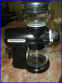 Kitchen Aid Pro Line Coffee Mill Grinder KPCG100OB1 Burr Black Excellent