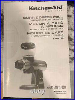 Kitchenaid Pro Line Burr Coffee MILL Kpcg100ob1 Grinder Kitchen Aid Proline