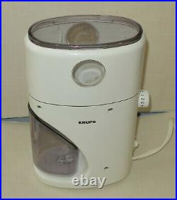 Krups 223 Coffina Coffee Grinder, Mr. Fusion with Lid, Brush and User Manual