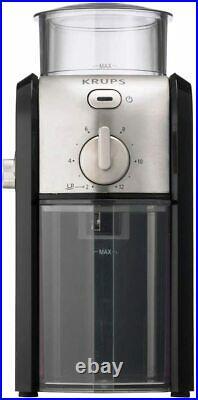 Krups Expert GVX242 Steel Burr Coffee Grinder 225g/12 Cup Capacity Grinding Mill