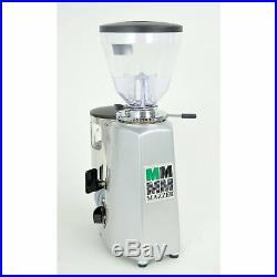 Mazzer Mini Espresso Coffee Grinder Doser Silver FRESH BURRS