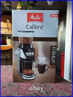 Melitta 6766579 Calibra Coffee Grinder Black / Stainless Steel New