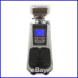 New Eureka Atom Flat Burr Coffee Bean Espresso Grinder Chrome Aluminum
