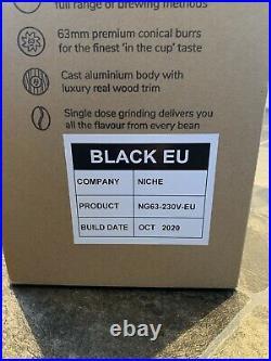 Niche Zero Black Coffee Espresso Grinder EU Plug Brand New Oct 20 Build